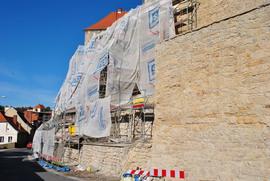 Prace konserwatorskie oraz roboty budowlane na murach obronnych przy ul. Międzyleśnej -  III etap
