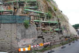 Prace konserwatorskie oraz roboty budowlane na murach obronnych przy ul. Międzyleśnej - IV etap