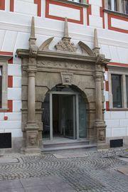 Wejście do lokalu Centrum Informacji Turystycznej od Placu Wolności