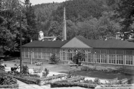 Park Zdrojowy w Długopolu-Zdroju, fot. Tadeusz Scelina (ok. 1950 r.)