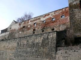 XIV wieczne mury obronne przed rewitalizacją