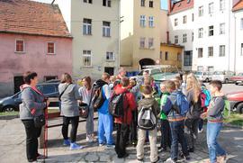 Zwiedzanie Bystrzycy_Uczniowie SP w Starym Waliszowie